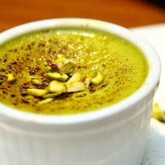 creme brulee inside creme brulee flavored with dessert pistachio ...