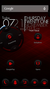 Next Launcher Theme RubberRed - screenshot