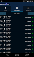 Screenshot of Running tracker - Run-log.com