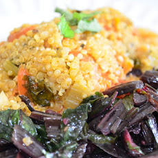Spicy Quinoa Pilaf With Warm Beet Greens