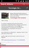 Screenshot of Eventi Milano