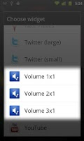 Screenshot of Volume Widget