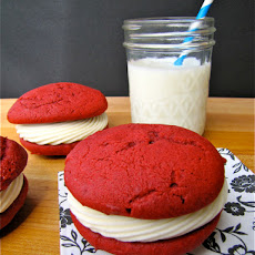 Red Velvet Whoopie with Cream Cheese Filling