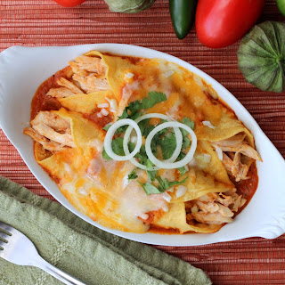 Authentic Enchiladas with Roasted Turkey