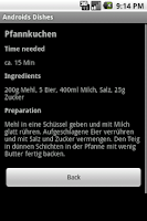 Screenshot of android's dishes - cookbook