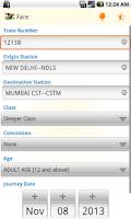 Screenshot of IRCTC PNR Rail & Train Enquiry
