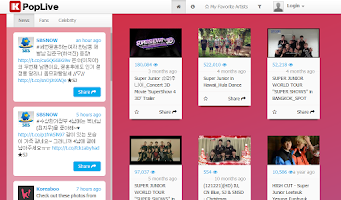 Screenshot of Super Junior (KPopLive)