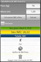 Screenshot of Calculadora IMC/Peso ideal Pro