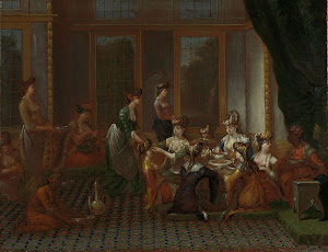 RIJKS: Jean Baptiste Vanmour: Banquet of Distinguished Turkish Women 1737