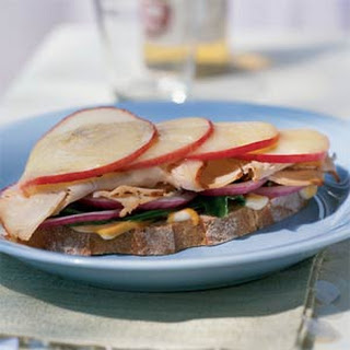 Open-Faced Turkey Sandwich with Apple and Havarti