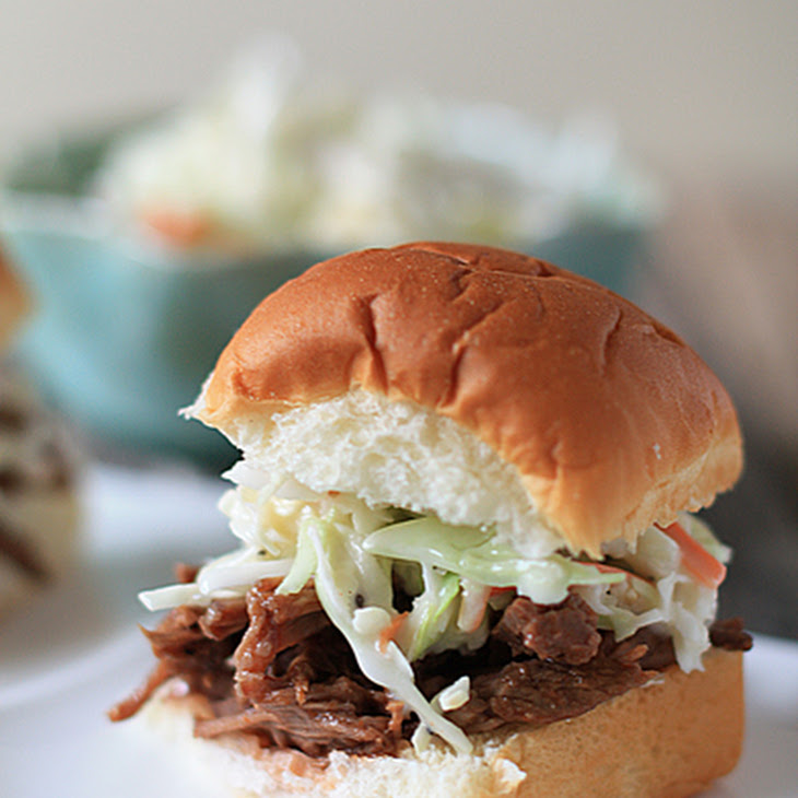 BBQ Beef Sandwiches and Sweet Slaw