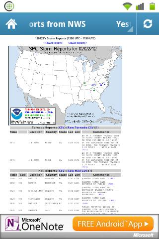 NWS Current Storm Reports