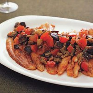 Flounder with Ratatouille
