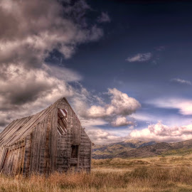Prairie Warrior by Michele Richter - Buildings & Architecture Decaying & Abandoned