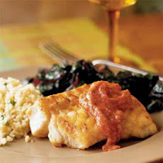Pan-Seared Grouper with Roasted Tomato Sauce