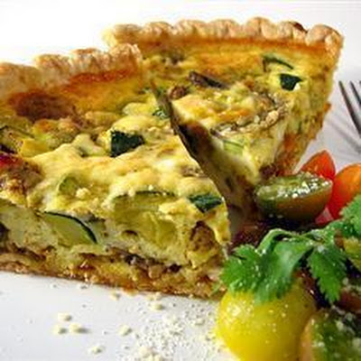 Courgette Ricotta Quiche