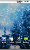 Screenshot of Holiday Snow Live Wallpaper