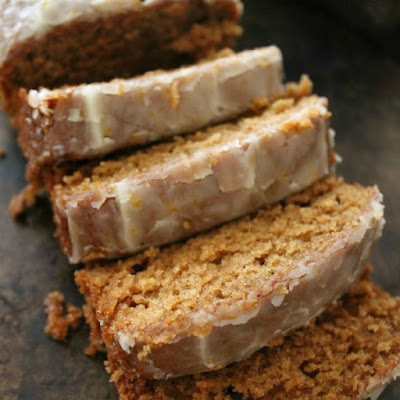 Spiced Apple Cake with Orange Glaze