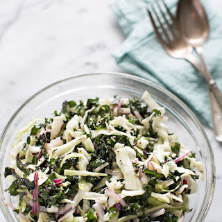 Cabbage and Kale Slaw with Caraway Ranch Dressing