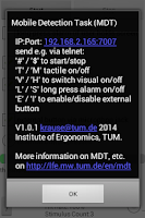 Screenshot of Mobile Detection Task MDT