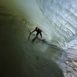Jesse last ride of the day by Dave Nilsen - Sports & Fitness Surfing