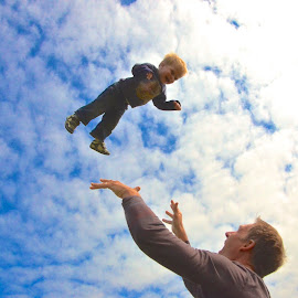 Flying by Tyrell Heaton - Babies & Children Toddlers ( clouds, flying, sky, ireland, toddler, babies and children )