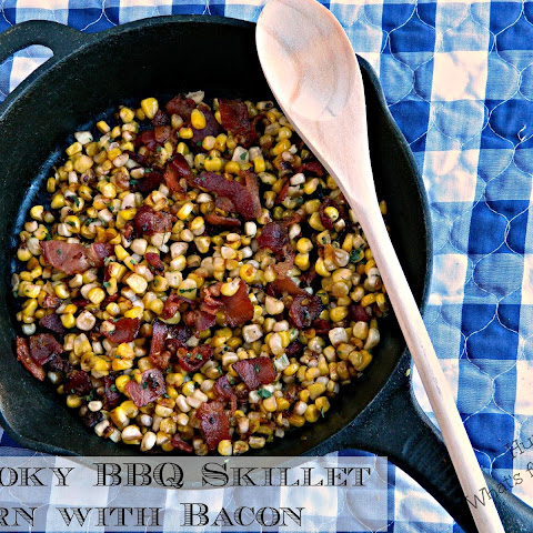 Smoky BBQ Skillet Corn with Bacon
