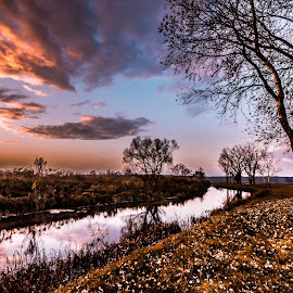 Slavonia in the sunset by Eseker RI - Landscapes Prairies, Meadows & Fields (  )