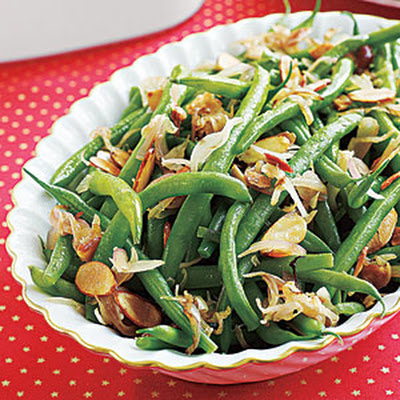 Green Beans with Shallots and Almonds
