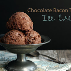 Low Carb Chocolate Bacon Toffee Ice Cream