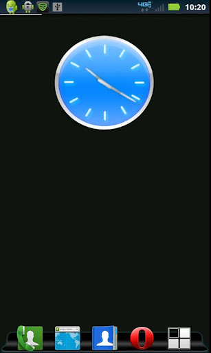 Blue Clock Widget