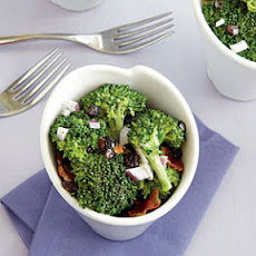 Broccoli Crunch Salad with Bacon and Currants