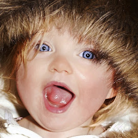 Oh My! by Cheryl Korotky - Babies & Children Child Portraits ( child, model, a heartbeat in time photography, silly expressions, kids wearing hoodies, amazing faces, beautiful children, blue eyes, peyton )