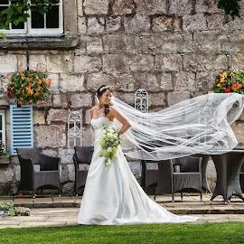 Hazlewood Bride Veil by Pete Bristo MBE  - Wedding Bride ( wedding, hazelwood castle )