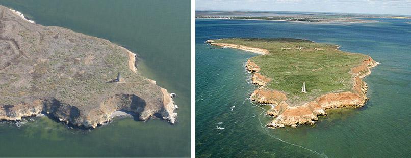 Очаков. остров Березань