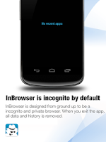 Screenshot of InBrowser - Incognito Browsing