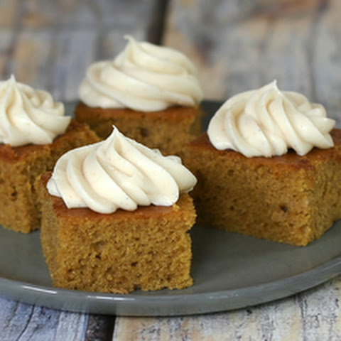 Pumpkin Sheet Cake with Brown Butter Cream Cheese Frosting