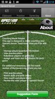 Screenshot of Upward Soccer Coach