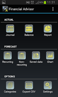 Financial Advisor screenshot for Android