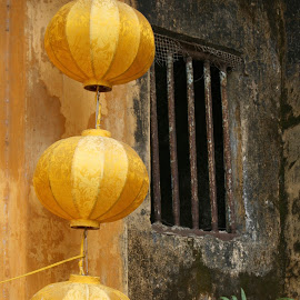 Vietnamese Lights by David Cummings - Artistic Objects Other Objects ( lights, hanging, building, lamp, vietnam )