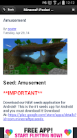 Screenshot of Seeds - Minecraft PE