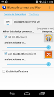 Screenshot of Bluetooth connect & Play