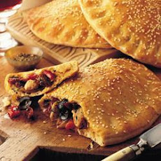 Calzone With Roasted Peppers