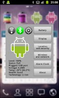 Screenshot of Android Battery