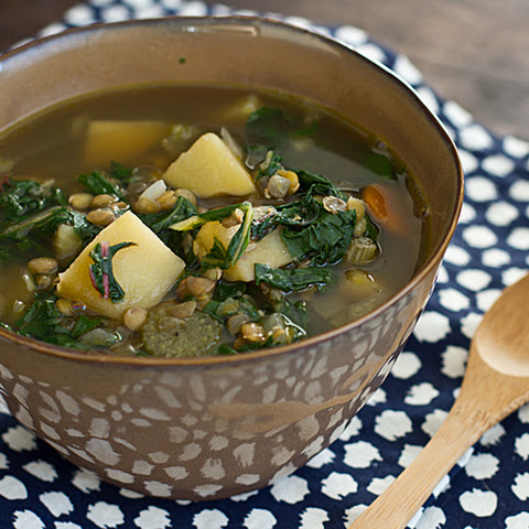 how to cook swiss chard in soup