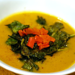 Roasted Butternut Squash, Kale, and Lemon Soup