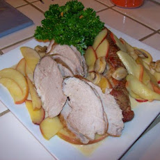 Pork Loin With Apples and Mushrooms