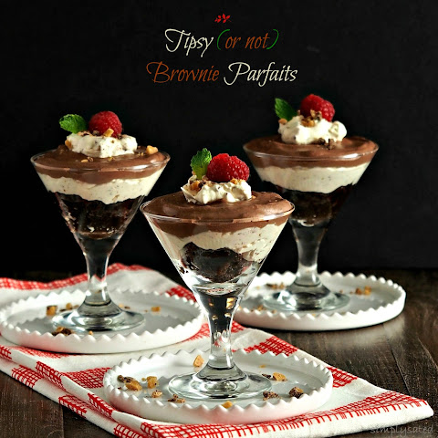 Tipsy (or not) Brownie Parfaits