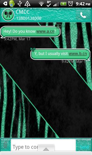 GO SMS THEME TealZebra1