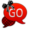 GO SMS - Red Plaid Bow icon